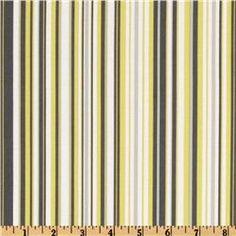Michael Miller Citron Gray Play Stripe Citron