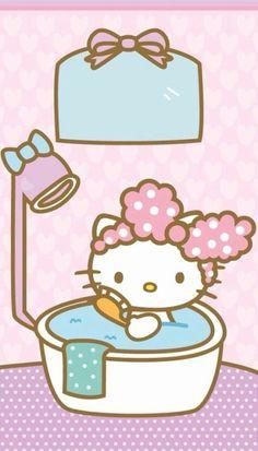 hk in a bathtub Sanrio Hello Kitty, Hello Kitty Clipart, Hello Kitty Art, Hello Kitty My Melody, Hello Kitty Items, Kitty Cam, Hello Kitty Backgrounds, Hello Kitty Wallpaper, Kawaii Wallpaper