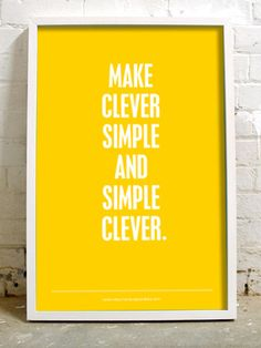 Make clever simple and simple clever
