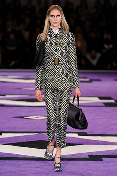 prada geometric pant suit
