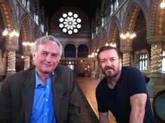Two of my favourite celebs! Richard Dawkins and Ricky Gervais.