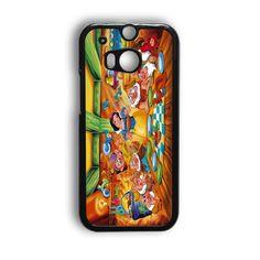 Snow Ariel And Alice Punk Tattoos Disney Princess HTC One M9 Case