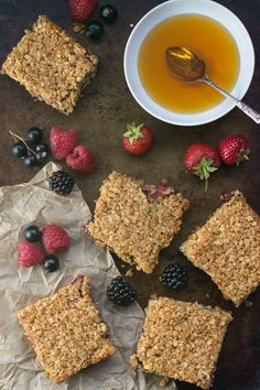 Summer fruit flapjacks - A delightful mix of strawberries, raspberries, blackberries and blackcurrants in this simple to follow flapjack recipe.