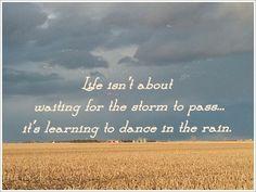 Dance in the rain :)