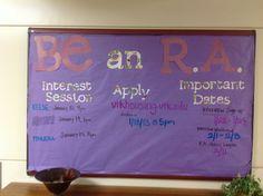 Be an RA Bulletin Board