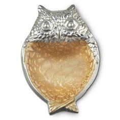 "Julia Knight Collection | Owl 6"" Bowl, toffee -- Designer serveware, barware, home decor & dinnerware for all occasions"