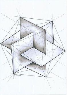 "Drawing Techniques Insertado - ""ㅤ"" Geometric Drawing, Geometric Designs, Geometric Shapes, Sacred Geometry Symbols, Sacred Architecture, Geometry Architecture, Architecture Design, Geometry Pattern, Solid Geometry"