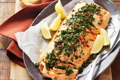 Looking for a quick and easy recipe for salmon? Try our Baked Salmon with Herbs and Crushed Red Pepper. This delicious and simple recipe can be ready to enjoy in less than 30 min.
