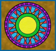 Colouring a mandala with Photoshop Elements and a Wacom graphics tablet is fun, relaxing and very rewarding.
