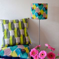 up, up & away - teal lampshade - Bubble Tree Design Studio