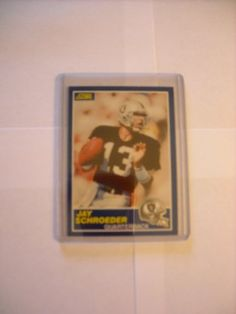 Jay Schroeder Los Angeles Raiders (Football Card) 1989 Score #30 by Score. $0.75. 1989 Score #30 - Jay Schroeder