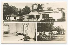 CHATTANOOGA, TN ~ Helton's Motor Court RPPC postcard ~ great neon