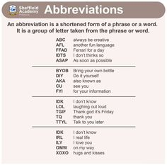 Forum – Abbreviations in English – Fluent Land