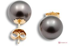 Extra Tahiti Pearl Earrings 9½mm in Gold 18K Orecchini Perle Tahiti Extra 9½mm in Oro 18K