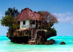 Island house.