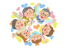 SPAI167, 프리진, 일러스트, 에프지아이, 가족, 캐릭터, 사람, 남자, 여자, 어린이, 재밋는, 웃음, 미소, 행복, 생활, 화목, 사랑, 패밀리, 어버이날, 오월, 5월, 단체, 엄마, 아빠, 할아버지, 3대, 삼대가족, 삼대, 할머니, 여자어린이, 남자어린이, 어른, 개, 강아지, 반려동물, 동물, 반려, 서있는, 상반신, 탑뷰, 3대가족, 며느리, 남편, 손자, 손녀, 하트, 풍선, 손짓, 만세, illust, illustration #유토이미지 #프리진 #utoimage #freegine 20096773