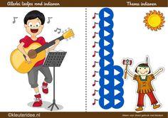 Liedjes bij het thema indianen, kleuteridee by juf Petra