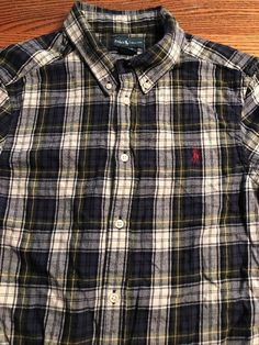 Polo, Ralph Lauren Boys Size Large, 14-16 Plaid Flannel Button Front Shirt  | eBay