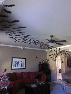 Halloween bat swarm Living Room