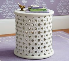 Stella Side Table. A spot to put my things next to the rocking chair. #petitpehrdreamnursery @PehrDesigns