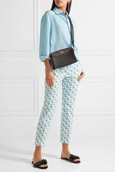 Prada - Bow-embellished Satin Slides - Black - IT