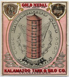Kalamazoo Dollar Silo  A flour/Silo ad for Gold Medal.