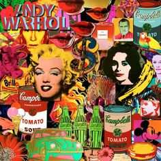 Andy Warhol This piece of the work he created is very bold with the bright colours her used different type of collage. this is very eye catchy. His work looks very interesting, he shows alot of things that is going on his work.