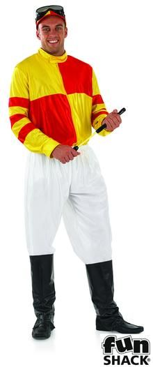 e2ee99fd Mens Red and Yellow Jockey Fancy Dress Costume: Be a Sport and Put Your  Bets On Because You Will Look Like the Best Dressed in Town in This Jockey  Fancy ...