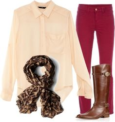 """Fall Outfit"" by candace-b ❤ liked on Polyvore"