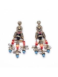 $11.95USD at www.bibjewelry.com | Worldwide Shipping | Statement Earrings | Ear Candy | Ear Party | Rachel Gems Statement Earrings