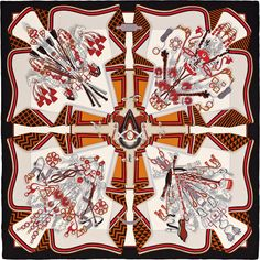 "Hermes Black, White & Red ""Bouquets Selliers,"" by Pierre Marie Silk and Cashmere Scarf Pristine. Pattern Images, Pattern Art, Print Patterns, Silk Scarves, Hermes Scarves, Pierre Marie, Deco Paint, Hermes Paris, Gardens"