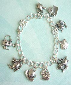 tea set charm bracelet