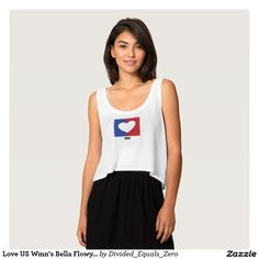 Heart, Love America, Patriotic, Political, Red White and Blue, Women's Bella Tank Top