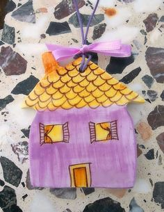 Violetta ceramic little house by IoannasVeryCHic on Etsy, $15.00
