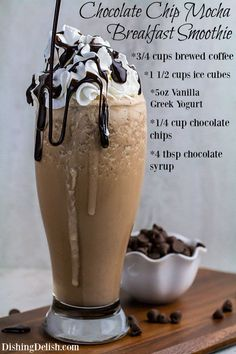 Chocolate Chip Mocha Breakfast Smoothie