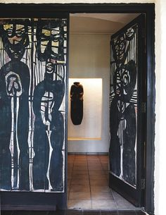 LatteLisa: house tour: Egon Guenther's art gallery turned home. Doors by Cecil Skotnes
