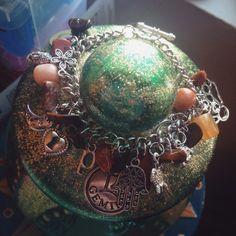 Bangle charm bracelet  All custom  by SunstoneJewellery on Etsy