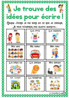 Great tool for primary writing group Kindergarten Writing, Teaching Writing, Teaching Tools, French Articles, French Resources, French Teacher, Teaching French, Learn French Beginner, Education And Literacy