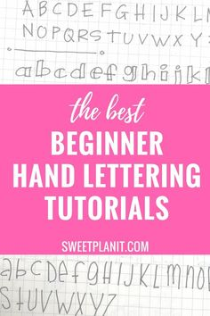 The Best Beginner Hand Lettering Tutorials