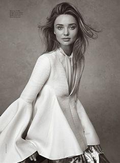 #perfection {Miranda Kerr in Ellery top and Giorgio Armani blouse for Vogue Australia}