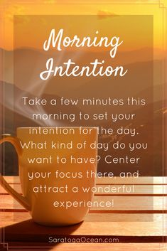 Sit quietly for a few minutes before you start your day. Think about the kind of day you want to have. Do you want it to be productive? Whatever you want, focus your attention on that experience. Then go out and have a wonderful Affirmation Quotes, Wisdom Quotes, Life Quotes, Positive Life, Positive Thoughts, Positive Quotes, Morning Affirmations, Positive Affirmations, Morning Inspiration