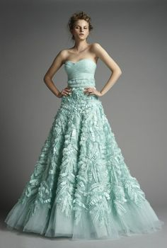 Zuhair Murad #Mint Green Gown - see more of the Mint Trend at this Pinterest board