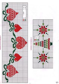 Xmas Cross Stitch, Cross Stitch Borders, Cross Stitch Flowers, Cross Stitch Charts, Cross Stitch Designs, Cross Stitching, Cross Stitch Embroidery, Cross Stitch Patterns, Christmas Embroidery Patterns