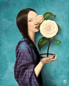 ⊰ Posing with Posies ⊱ paintings of women and flowers - Christian Schloe
