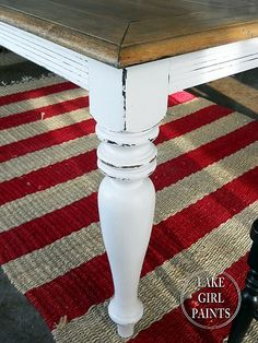 DIY::Change the Look of your Dining Room Table-Go from formal to farmhouse ! Excellent Tutorial !