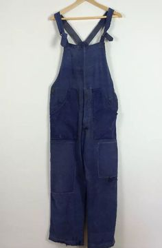 Vintage antique 1900s french linen patched dungarees by wearship