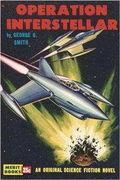 vintage sci-fi novel cover poster OPERATION INTERSTELLAR futuristic 24X36