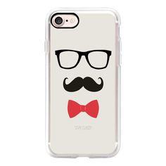 STAY CLASSY MUSTACHE AND BOW TIE - iPhone 7 Case, iPhone 7 Plus Case,... ($40) ❤ liked on Polyvore featuring accessories, tech accessories, phonecase and iphone grip case