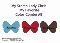 Stampin' Up Color Combo  Marina Mist, Cherry Cobbler & Early Espresso
