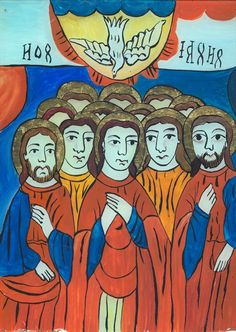 ICOANE PE STICLA Christian Paintings, Holy Spirit, Folk, My Arts, Traditional, Glass, Sacred Art, Orthodox Icons, Holy Ghost